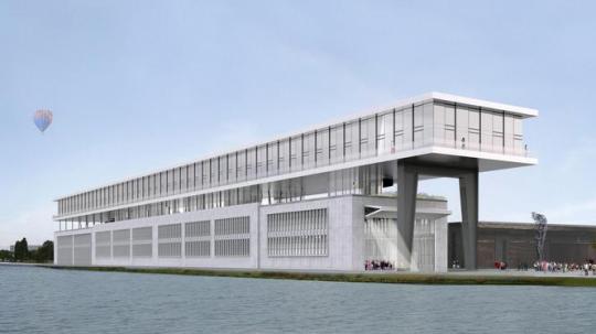 Koolhaas' ontwerp voor de oude munitiefabriek