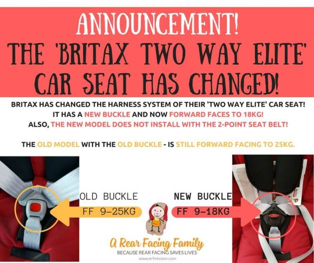 ANNOUNCEMENT! The Britax Two Way Elite HAS CHANGED!
