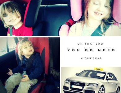 You need a car seat in a taxi by law