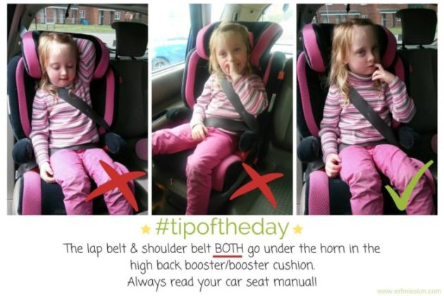 correct seat belt placement in booster