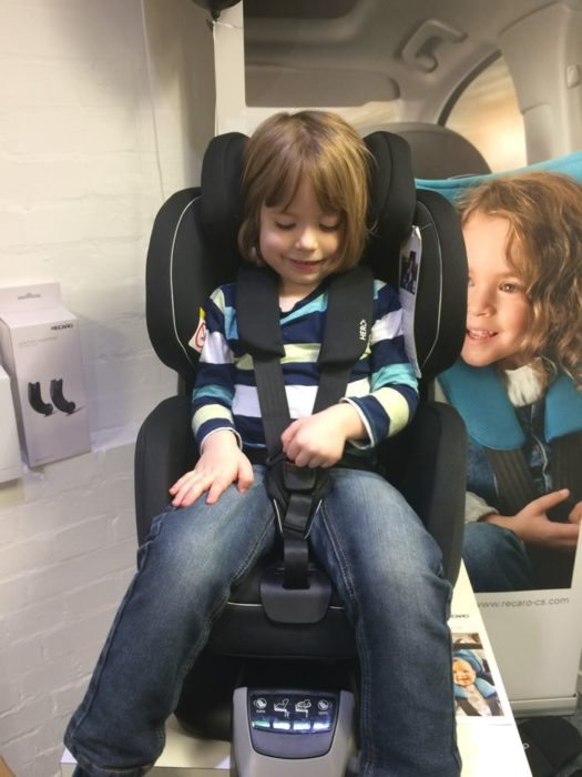 Henry enjoying the Recaro Zero 1