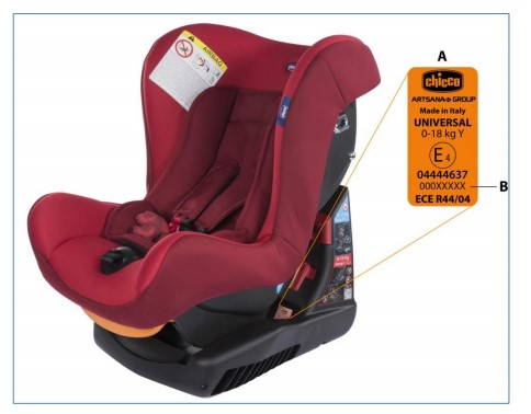 CHICCO COSMOS CAR SEAT - VOLUNTARY RECALL ANNOUNCEMENT