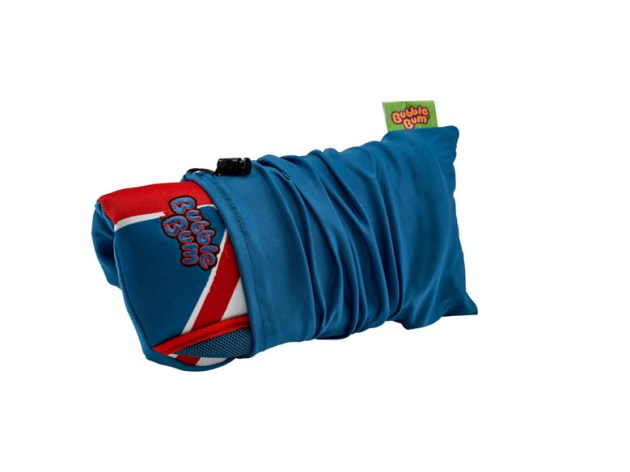 Girl-holding-seat-under-arm-in-carry-bag-union-jack_
