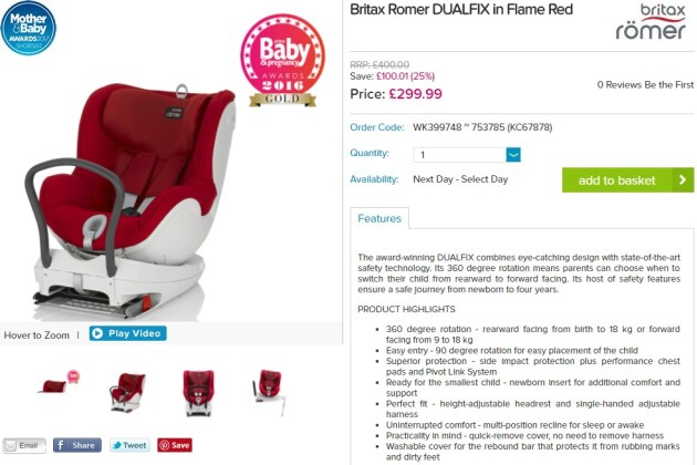 Britax Dualfix red