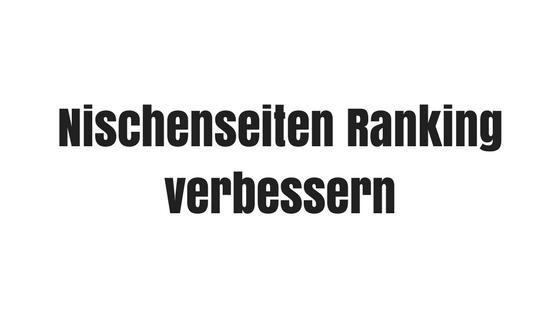 Nischenseiten Ranking verbessern