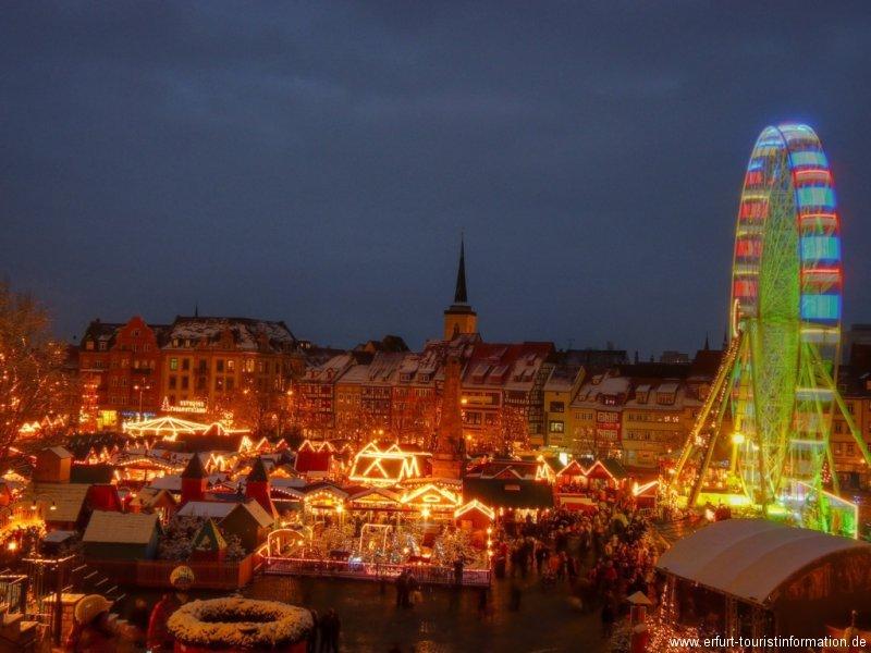 Weihnachtsmarkt Erfurt.Erfurter Weihnachtsmarkt 2018 Eve Tourist Information In Erfurt