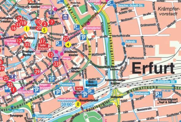 Stadtplan Erfurt - Downloaden oder Bestellen - Erfurt Tourismus