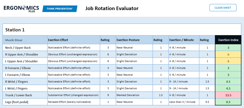 Job Rotation Sheet Example