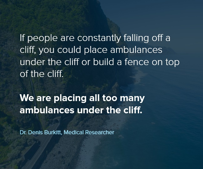 Too many ambulances under the cliff.