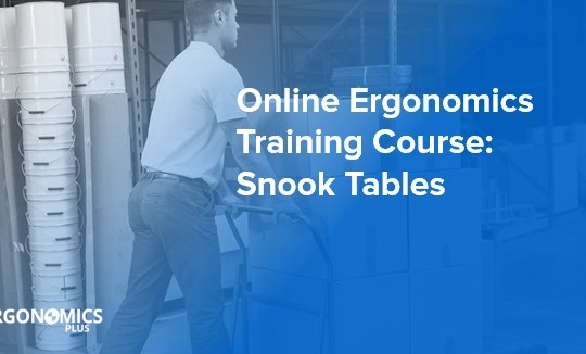 Online Ergonomics Training Course — Snook Tables