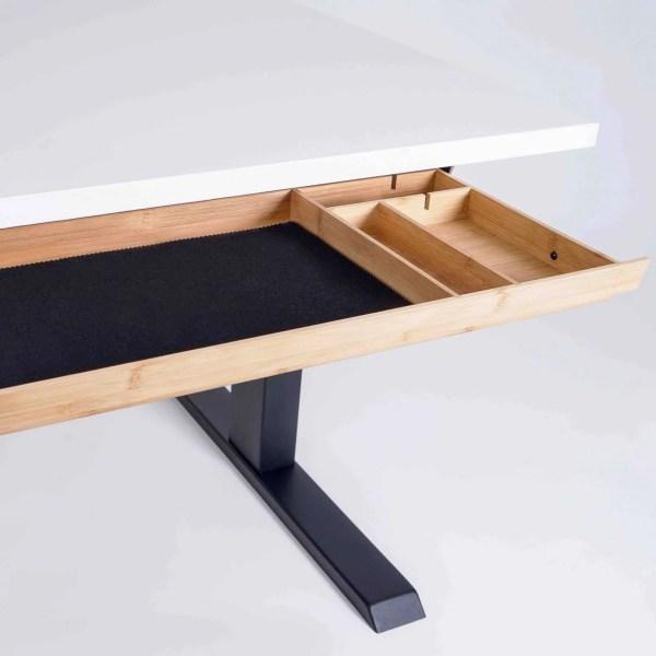 Bamboe lade voor onder bureau