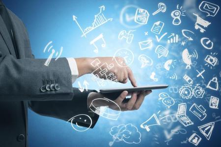 businessman-working-tablet-social-media-modern-sketch-symbol-34141860