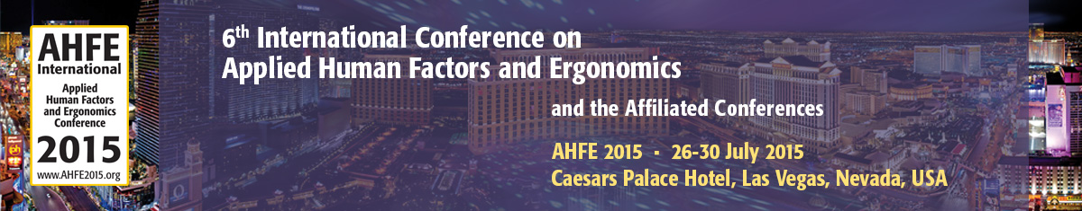 6th International Conference on Applied Human Factors and Ergonomics