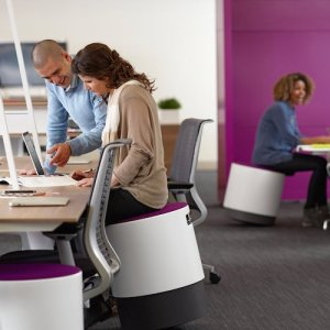 sitting at desk bouy turnstone steelcase