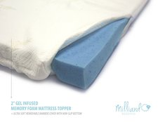 back pain relief gift idea - memory foam topper
