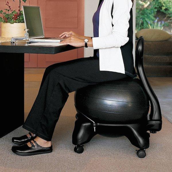 Stability Ball Vs Standing Desk: Gaiam Ergonomic Balance Ball Chair Review