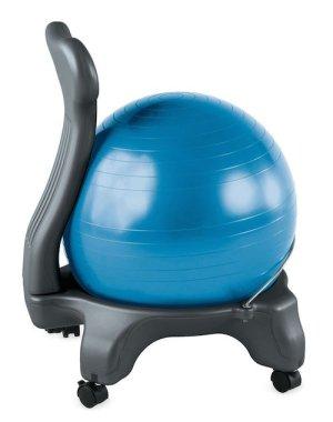 gaiam balance ball chair in blue