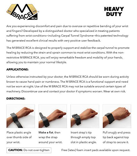 wrist pain help M BRACE RCA - HEAVY DUTY - Carpal Tunnel Treatment Wrist Support