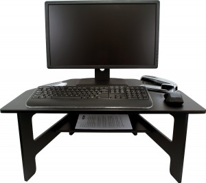 Victor High Rise Stand-Up Desk Converter Standing Desk