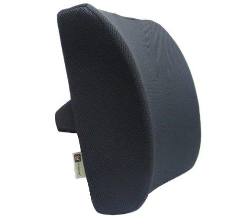 Love Home Memory Foam 3d Ventilative Mesh Lumbar Support Cushion Back Cushion - Alleviates Lower Back Pain- (Black)