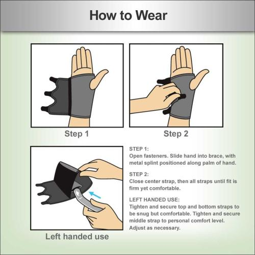 how to wear a carpal tunnel brace