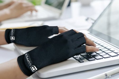 Copper Compression Arthritis Gloves for pain relief from carpal tunnel and typing