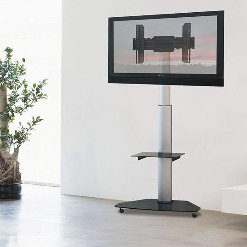 fiber novelty fn01 pied a roulettes reglable design pour ecrans tv lcd led 37 70 maxi 40 kg