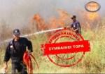 Φωτιά στο Χολομώντα πάνω από την Αρναία