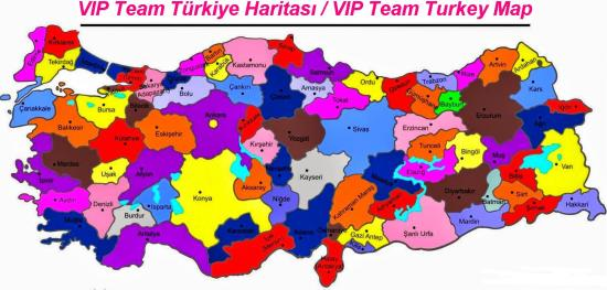vip team turkiye haritasi