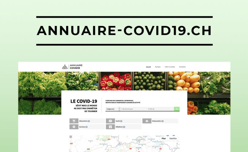 Site web annuaire-covid19.ch