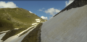 Le col du Sabot - La route 10 cm roulable