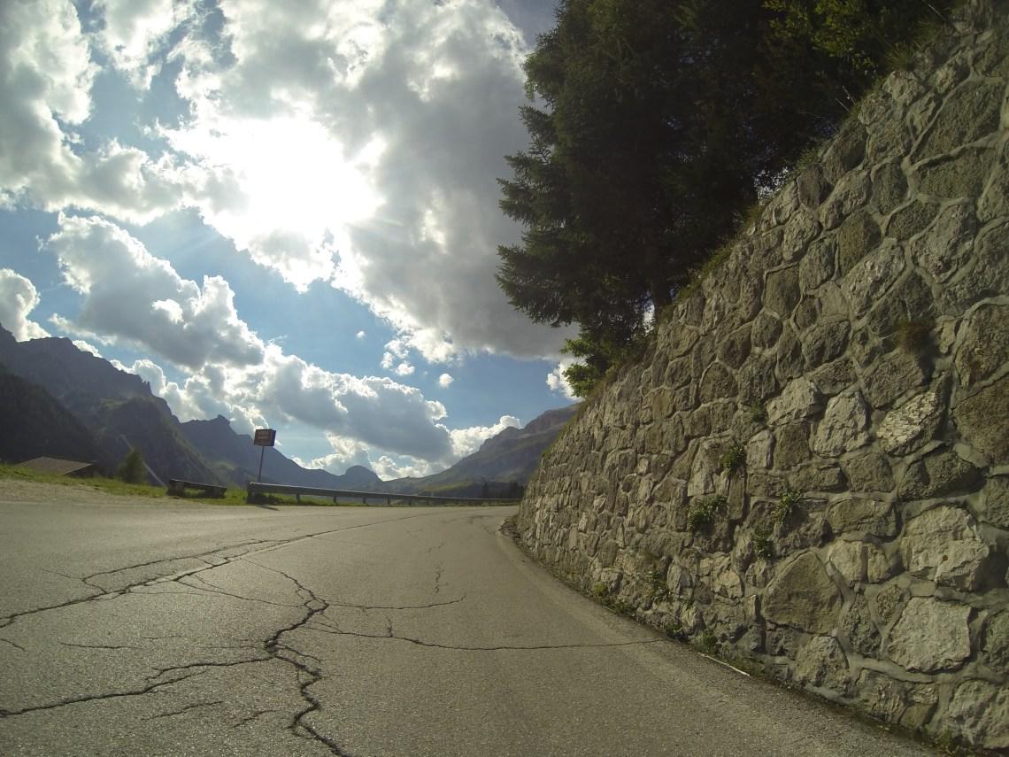 La montée du Passo Campolongo