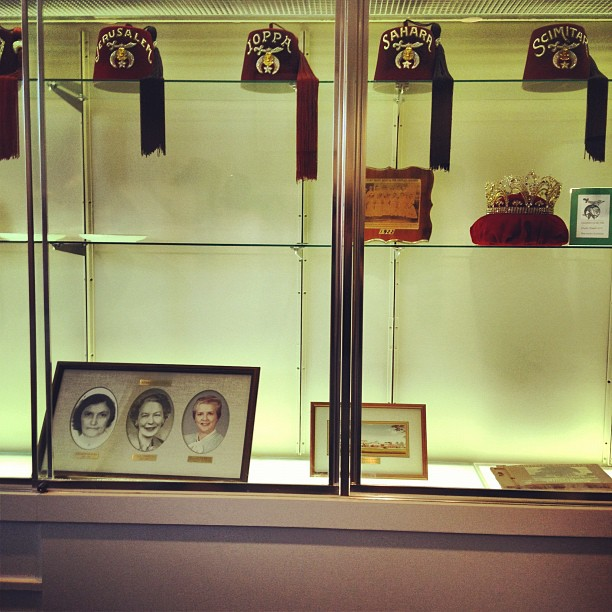 Fez display at Shreveport Shriners hospital