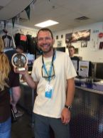Toni with Fastest Lap Trophy