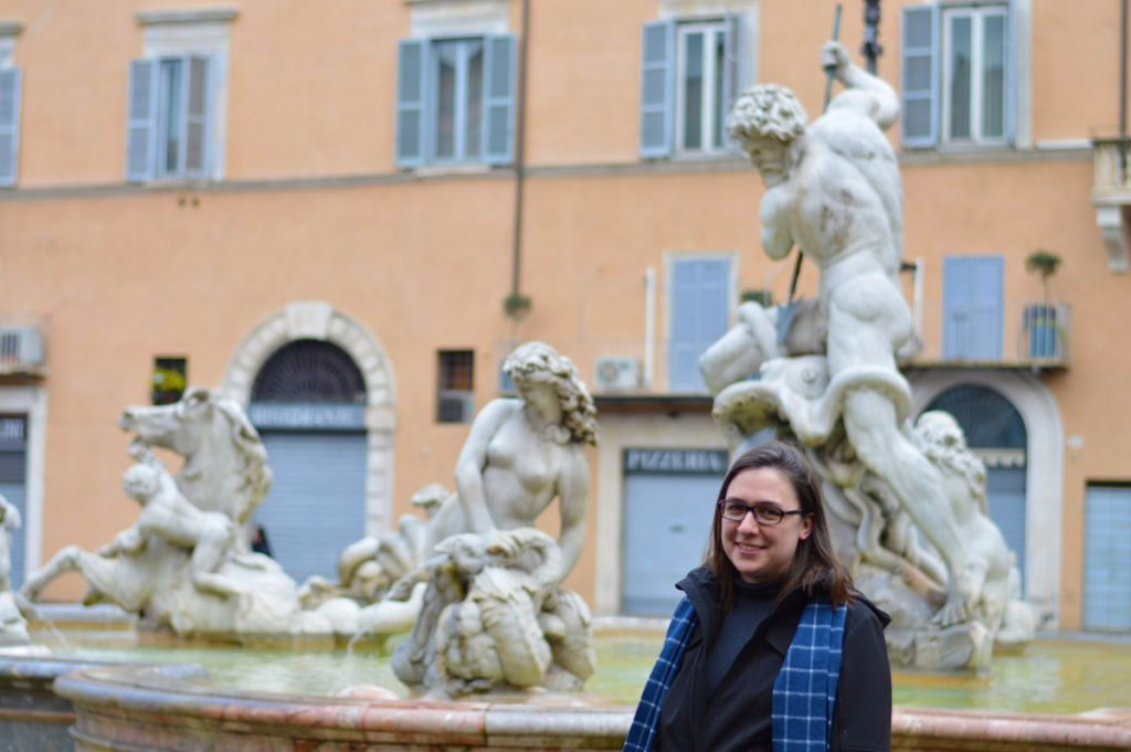 Jennifer Dodd at Piazza Navona