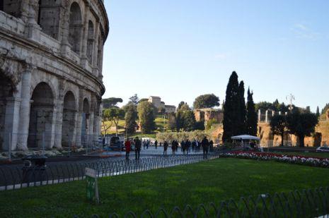 Outside Colosseum