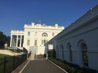 View from just outside West Wing