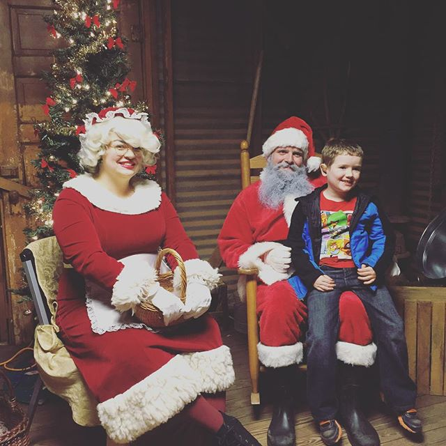 Santa picture at ElectriCritters last night.