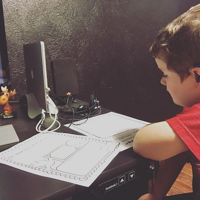 MLK homework with the kid last night.