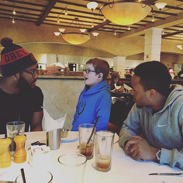 Hero catching up with Jovonte and Mando.