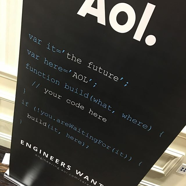 Me: Why are you at a PHP conference with JavaScrupt on your banner? Aol: It's not JavaScript, it's MarketScript. Me: Touché