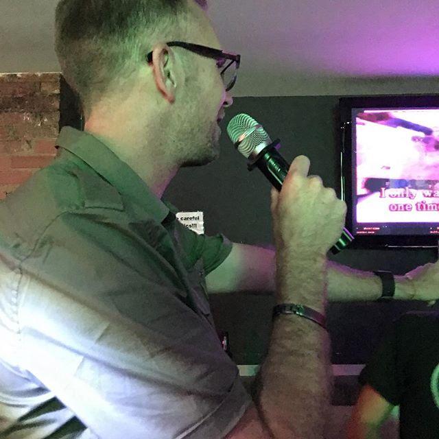 Dan singing karaoke