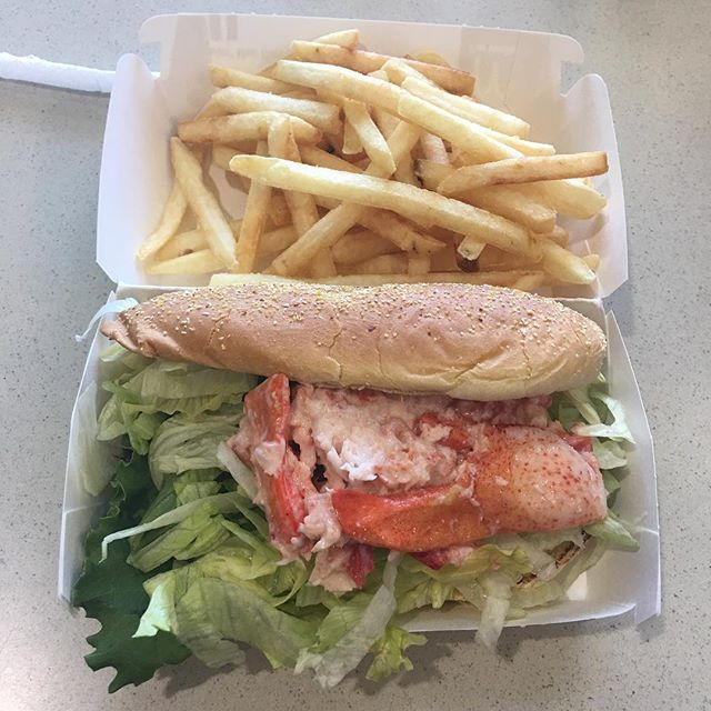 Got a lobster roll at a McDonalds in Massachusetts. Wasn't too bad. Didn't look as good as advertised though.