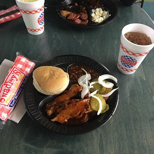 #wcokc is #doingitright with BBQ for lunch.