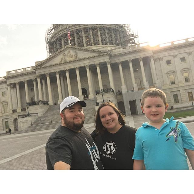 Family picture at the Capitol building