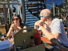 Enej and Candace Bajgoric at Bowen Island Pub