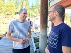 Enej and Miguel at Bowen Island Marina