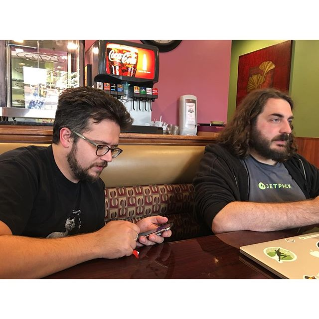 @roccotrip and @sdquirk at House of Pizza for lunch.