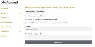 Affiliate WP URLs tab