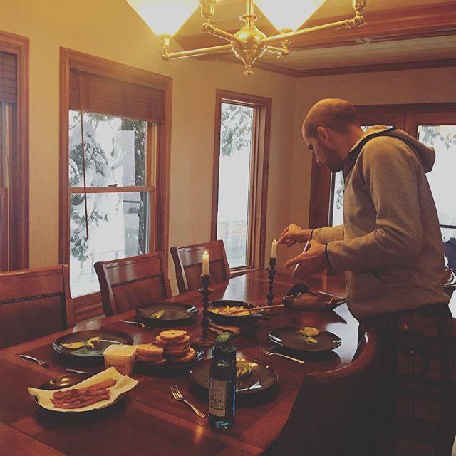 Meetup breakfast. @enejbajgoric setting the table.